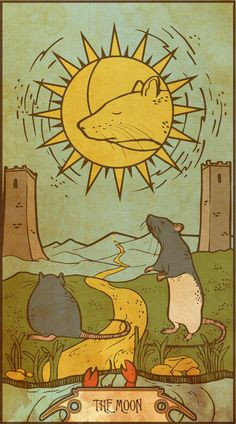 Muroidea Rat Tarot- The Moon Art Print