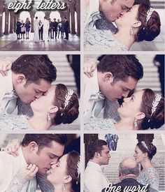 I already miss Gossip Girl! Leighton meester and Ed westwick ( blair and chuck wedding)