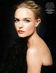 Kate- More with the orangey-reds! love the fresh, dewy face