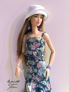 Barbie Sewing Patterns, Doll Dress Patterns, Barbie Fashion Designer, Fashion Dolls, Diy Barbie Clothes, Doll Clothes, Dollhouse Clothing, Crochet Doll Dress, Edwardian Dress