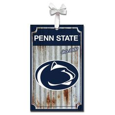 Evergreen Enterprises, Inc Metal Corrugate Shaped Ornament NCAA Team: Pennsylvania State University