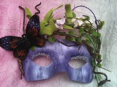 OOOOOO like!! Forest Dryad - Keeper of The Butterflies Masquerade Mask.   www.romanticdesires.etsy.com