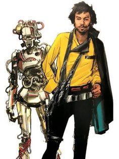 Solo: A Star Wars Story concept art featuring Han, Lando, and Val Alien Concept Art, Star Wars Concept Art, Abrams Books, Edge Of The Empire, Arte Nerd, Lando Calrissian, Episode Iv, Star Wars Rpg, Marvel