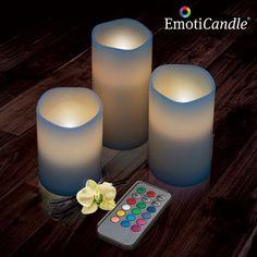 EmotiCandle LED sviečky (3 kusy v balení)