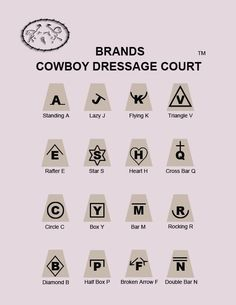 cowboy dressage letters become brands smaller court also