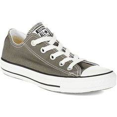 CONVERSE Women's All Star Sneakers (600 ZAR) ❤ liked on Polyvore featuring shoes, sneakers, converse, grey, gray sneakers, converse shoes, grey flat shoes, lace up flats and lacing sneakers