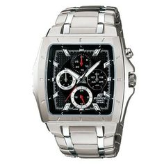 Casio Edifice : Popular Large Square Case with Four Dials show day, date, month and time Series (Sept 2009 Model) Casio Watch # (Mens Watch) Casio Edifice, Stylish Watches, Cool Watches, Watches For Men, Latest Watches, Watches Online, Best Sports Watch, Casio Digital, Online Shopping