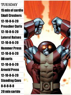 Gym Workout Chart, Best Workout Routine, Workout Humor, Workout Challenge, Gaelic Blessing, Hero Workouts, Superhero Workout, Gym Program, Doughnut Pan