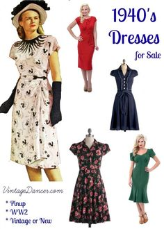 10 Great Websites With 1940s Dresses for Sale http://www.vintagedancer.com/1940s/10-great-websites-with-1940s-dresses-for-sale/