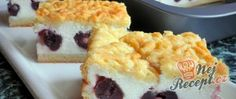 Grated yoghurt cake with cherries NejRecept. Yogurt Recipes, Sushi, Cheesecake, Cherry, Food And Drink, Treats, Baking, Breakfast, Healthy