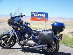 Steve Solko stopped to take a picture of a his 1980 Honda CB900 Custom at the Utah/Colorado state line on his way to the 2010 Bonneville Vintage GP at Miller Motorsports Part in Tooele, Utah. (Photo and article by Steve Solko. Read more: Motorcycle Classics November 2010)