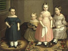 Oliver Tarbell Eddy, (American, 1799–1868). The Alling Children, ca.1839. The Metropolitan Museum of Art, New York. Gift of Edgar William and Bernice Chrysler Garbisch, 1966 (66.242.21) #kids