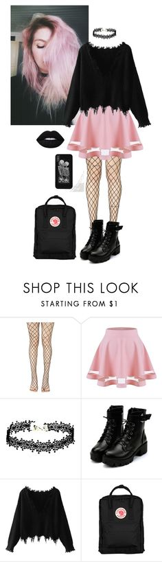 """""""Pink hair"""" by ccrazybbutccute ❤ liked on Polyvore featuring Leg Avenue and Fjällräven"""