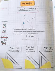 Leçon à mémoire visuelle sur les angles – Tablettes & Pirouettes Angles, Education Positive, Classroom, Science, School, Calculus, Classroom Displays, Math Lessons, Geometry