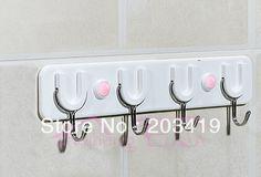 3KG or 5KG  Adhesive 4 hooks holder hanger sticker for clothes towel coats Wall bathroom window car decor etc wholesale retail $1.20