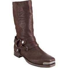 bbf5b7545b3 Prada Boots - Miu Miu Square Toe Brown LeatherBiker Boot 10 NWT Celine