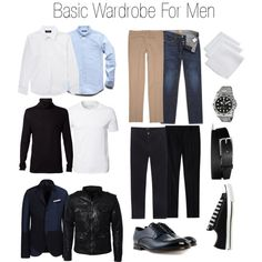 Basic Wardrobe For Men (minus the Steve Jobs'-esque black mock turtleneck)