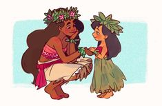 Moana + Lilo and Stitch Disney Pixar, Disney Animation, Film Disney, Disney Kunst, Disney Memes, Disney Fan Art, Disney And Dreamworks, Disney Cartoons, Disney Crossovers
