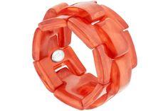 Bracelet Summer Sunshine en résine, élastique, fraise, Ø55mm Dominique Denaive