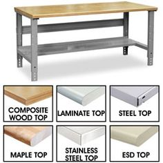 Work Bench, Industrial Packing Tables - ULINE, for studio workbench Sewing Room Decor, Sewing Rooms, Gun Rooms, Packing Supplies, Workspace Design, Storage Spaces, Storage Ideas, Garage Storage, Home Office Decor