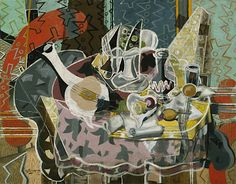 Georges Braque French, Still Life with Fruits and Stringed Instrument 1938 Oil on canvas AIC Georges Braque, Pablo Picasso, Picasso And Braque, Henri Matisse, Francis Picabia, Post Impressionism, Art Institute Of Chicago, Museum Of Modern Art, Art Google