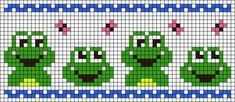 Alpha friendship bracelet pattern added by butterfly frogs spring happyness. Stitching On Paper, Cross Stitching, Cross Stitch Embroidery, Embroidery Patterns, Cross Stitch Patterns, Mini Cross Stitch, Cross Stitch Flowers, Graph Paper Art, Fair Isle Knitting Patterns