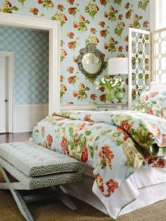 Traditional Decor, Beautiful Space, Designer Wallpaper, Country Decor, Shabby Chic, Interior Design, Furniture, Home Decor, Nice Bedrooms