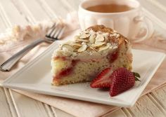 I found this recipe for Strawberries and Cream Coffee Cake , on Breadworld.com. You've got to check it out!