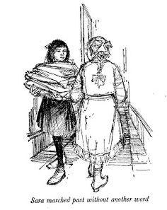 Illustration by Margery Gill, from Frances Hodgson Burnett, A Little Princess, 1961