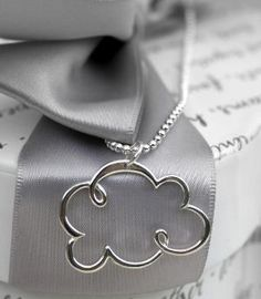 Silver Lined Cloud necklace