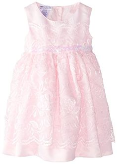 Blueberi Boulevard Baby Girls Sleeveless Lace Bead Waist Dress Pink 18 Months ** To view further for this item, visit the image link.