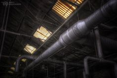 pipes and windows. #derelict factory. #urbex #arthakker #hdrphotography
