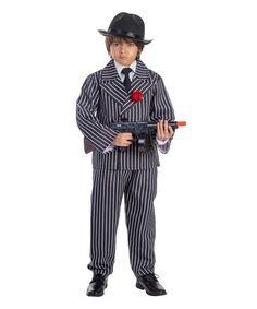 Another great find on #zulily! Black & White Pinstripe Gangster Dress-Up Set - Toddler & Kids #zulilyfinds