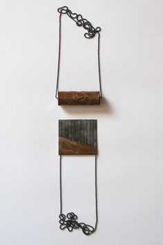 Gabriela Coelho                                                                                                                        Shareable series - Music Box necklaces 925 silver, copper, brass;