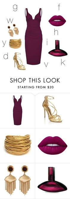 """confused"" by anjola112 on Polyvore featuring Nicole Miller, Lipsy, Black & Sigi, Lime Crime, Vince Camuto and Calvin Klein"