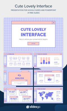 Cute Lovely Interface Google Slides & PowerPoint template