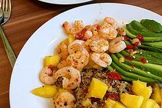 Quinoa-Salat mit Mango, Avocado und Garnelen (Rezept mit Bild) | Chefkoch.de