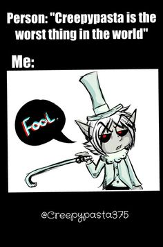 Creepypasta and Anime mixed XD I love it! ~ the anime is Soul Eater and the character mixed with the creepypasta is Excalibur. Scary Creepypasta, Creepypasta Proxy, Creepy Stories, Horror Stories, Creepy Pasta Family, Dont Hug Me, Dhmis, Ben Drowned, Laughing Jack