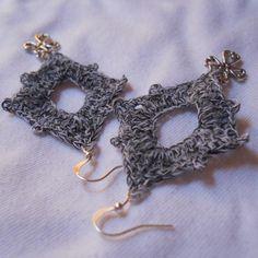 A simple yet elegant free crochet earrings pattern that's appropriate for a beginner in crochet.