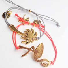 Paradise - Paradise & Flamingo bracelets