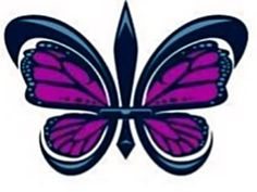 Butterfly fleur-de-lis..  This would make a beautiful tattoo