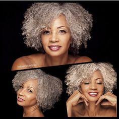 Beautiful natural gray hair