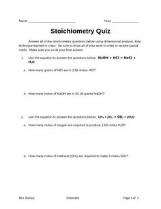Stoichiometry / Limiting Reactant Worksheets Set of 2 | Equation ...