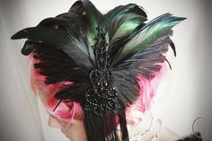 1920s flapper-inspired taxidermy bird wing by Altar Ego Design of Etsy