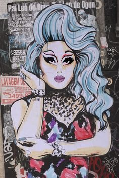 Drag Queen Kim Chi from Rupaul's Drag Race in Sao Paulo by Suriani, 2016