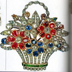 the Flower Basket brooch was given to Queen Elizabeth in 1948 to commemorate the birth of Prince Charles.