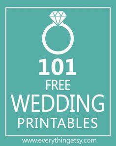 101 Wedding Printables - This will help make your wedding beautiful on a budget! #diy #wedding