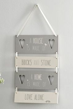 Home Hanging Sign from the Next