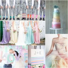 Why limit your wedding to only just a few of your favorite colors when you could use the entire rainbow?! #rainbowwedding