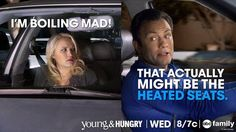 "We love Gabi and Josh's friendship! They're so silly! ""I'm boiling mad!"" ""That actually might be the heated seats"" 